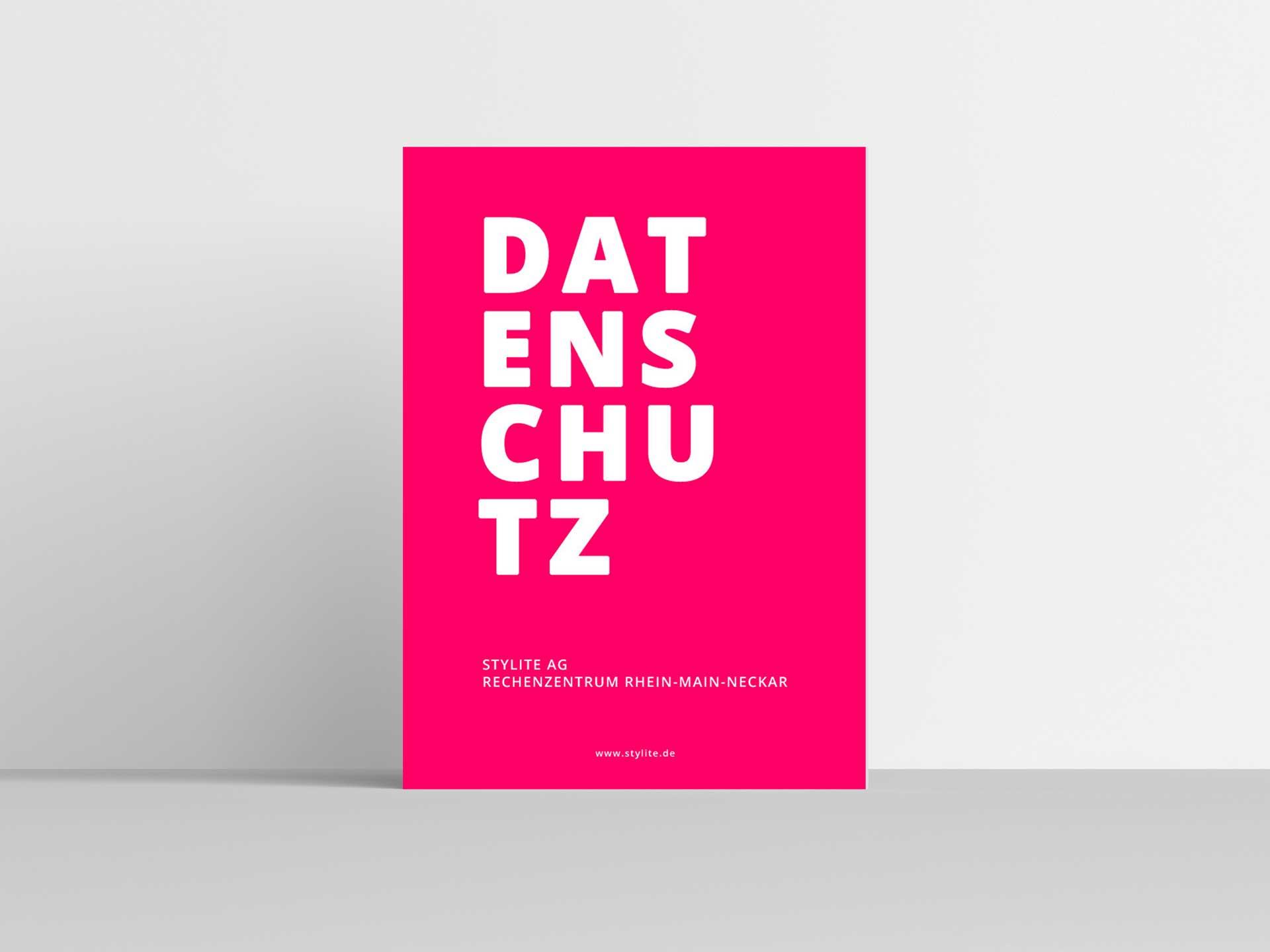 Stylite Rechenzentrum Mainz Poster Datenschutz